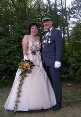 Uwe Althaus mit Frau Claudia, das amtierende Lieser Königspaar im Jahr 2007.