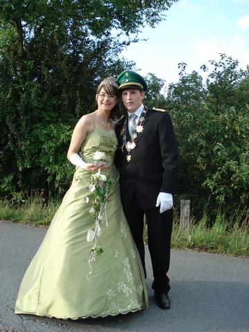 amtierendes Königspaar Kerstin Reuter und Sascha Bleich