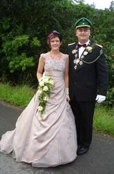 Dennis Stoll und seine Frau Silvia regieren im 110. Jahr die St.-Hubertus- Schützenbruderschaft Liesen
