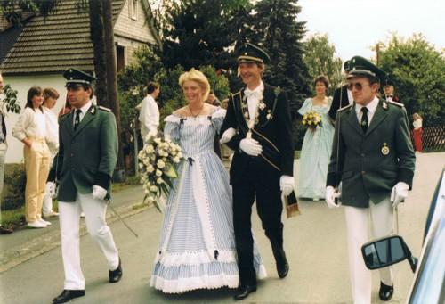 Königspaar 1984 - Cornelia und Norbert Schnorbus