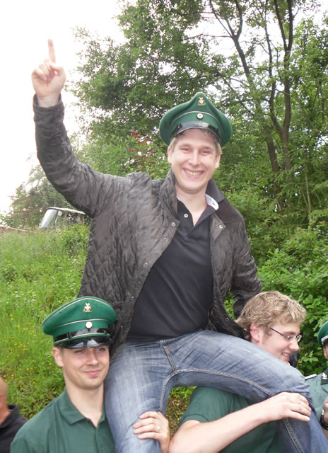 Johannes Berkenkopf - Amtierender Jungschützenkönig 2010-2011 in Liesen