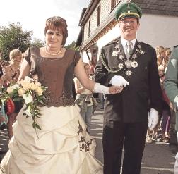 Das neue Königspaar Michael und Meta Bleich