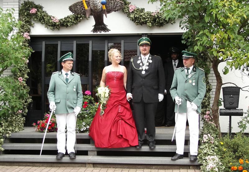 amtierendes Königspaar Nina Bröhland und Daniel Scharf