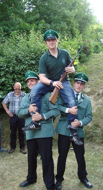 Dominik Mause - Amtierender Jungschützenkönig 2011-2012 in Liesen