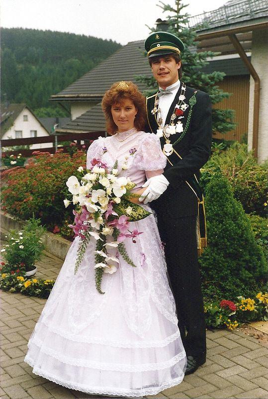 Jubelkönigspaar Ralf Brieden und Cornelia Lefarth, geb. Padberg - 1986: Schützenfest vor 25 Jahren