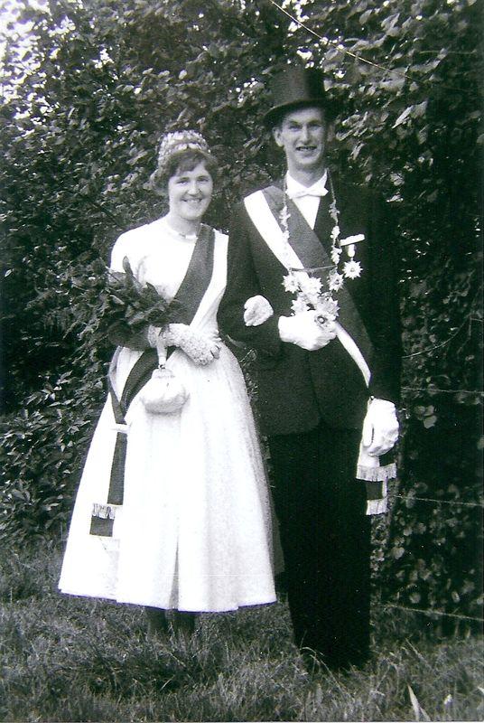 Jubelkönigspaar Edi Brieden und Annemarie Brieden, geb. Werth - 1961: Schützenfest vor 50 Jahren